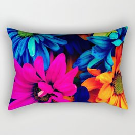 Neon Daisies Rectangular Pillow