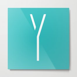 The Letter Y Metal Print
