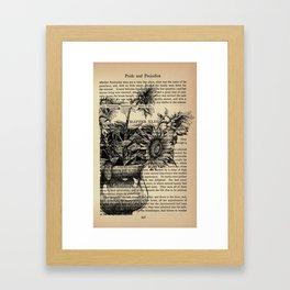 Pride & Prejudice, Chapter XLIII: Sunflowers Framed Art Print