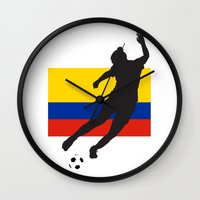colombia Wall Clocks featuring Colombia - WWC by Alrkeaton