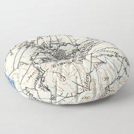 Vintage Map of Palo Alto California (1899) Floor Pillow