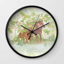 A day in the rain | Miharu Shirahata Wall Clock