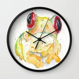 Springy Froggy Wall Clock