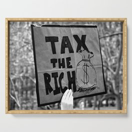 Tax the Rich Serving Tray