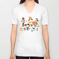 garden V-neck T-shirts featuring Klee's Garden by Picomodi