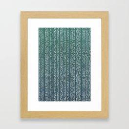 Green Stripe Framed Art Print