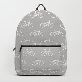 bicycles textured - gray Backpack