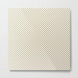 Hemp Polka Dots Metal Print