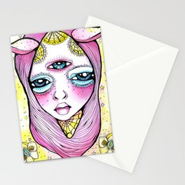 Mildred was Stuck Between Life and Death Stationery Cards
