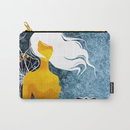 Girl in flowers Carry-All Pouch