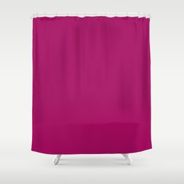 Jazzberry Jam - solid color Shower Curtain