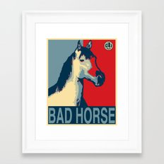 Galloping Campaign Framed Art Print