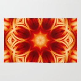 Fire Lotus Mandala Rug