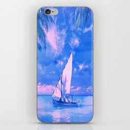 Tropical yachting iPhone Skin