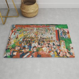 Christ's Entry into Brussels by James Ensor, 1889 Rug
