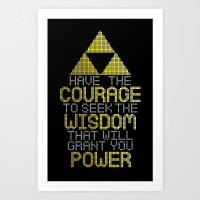 motivational Art Prints featuring Triforce Motivational by JesseThomas