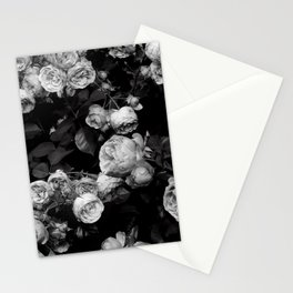 Roses are black and white Stationery Cards
