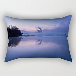 Tranquil blue nature Rectangular Pillow
