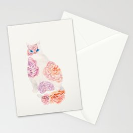 Flower Cat Stationery Cards