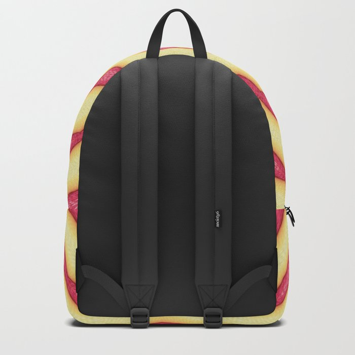 YELLOW AND PINK CIRCLES - MANDALA Backpack
