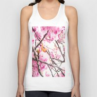 martell Tank Tops featuring Seattle Blossoms by G Martell