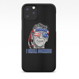 I smell commies Ronald Reagan USA Flag iPhone Case