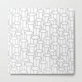 3D Hexagon Pattern Metal Print