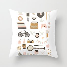 A few of my Favorite Things Throw Pillow