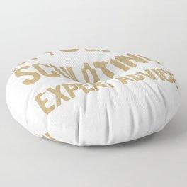 Sculptor Gift Talk to Myself When Sculpting for Expert Advice Floor Pillow