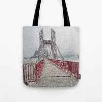 bridge Tote Bags featuring Bridge by Mr and Mrs Quirynen