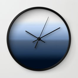 blue ombre paint Wall Clock