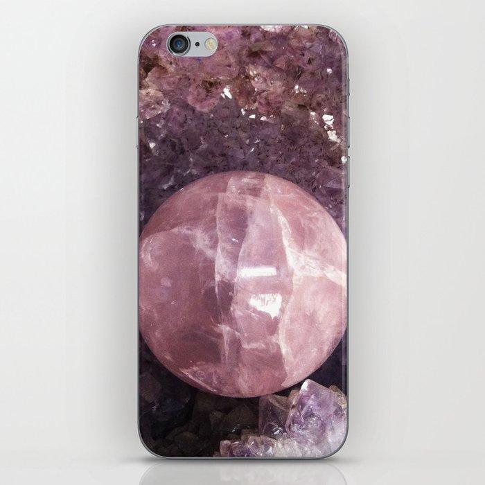 Amethyst and Pink Quartz Gemstone iPhone Skin