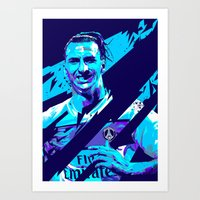 zlatan Art Prints featuring Zlatan Ibrahimović : Football Illustrations by mergedvisible