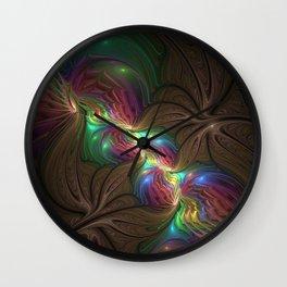 Colors, Abstract Fractal Art Wall Clock