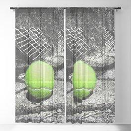 tennis print work vs 1 Sheer Curtain