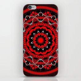 Mandala 009 Red White Black iPhone Skin