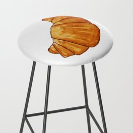 watercolor croissant Bar Stool