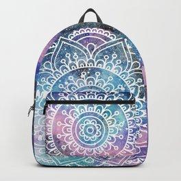 Mandala Dream   Watercolor Galaxy Painting Backpack