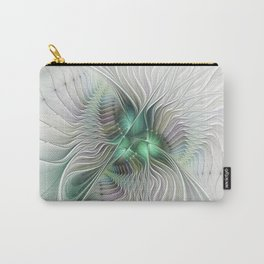 Fantasy Ways, Abstract Fractal Art Carry-All Pouch