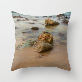 Rocky Coastline Vietnam Throw Pillow