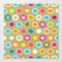 buffy Canvas Prints featuring polka buffy by Sharon Turner