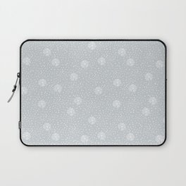 Mauve blue white hand painted polka dots snowflakes pattern Laptop Sleeve