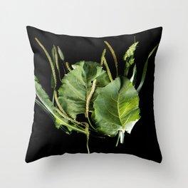 Burdock leaves Throw Pillow
