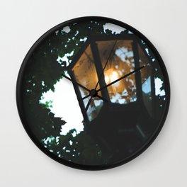 gas lamp, summer walks. Wall Clock