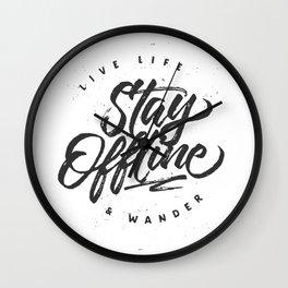 Stay Offline Wall Clock