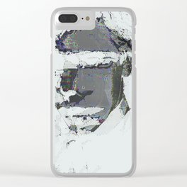 summer glitch Clear iPhone Case