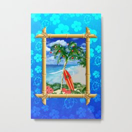 Beach Christmas Metal Print