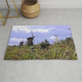 Two sisters at Kinderdijk Rug