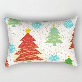 Christmas trees and snowflakes Rectangular Pillow