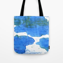 Bleu de France abstract watercolor Tote Bag